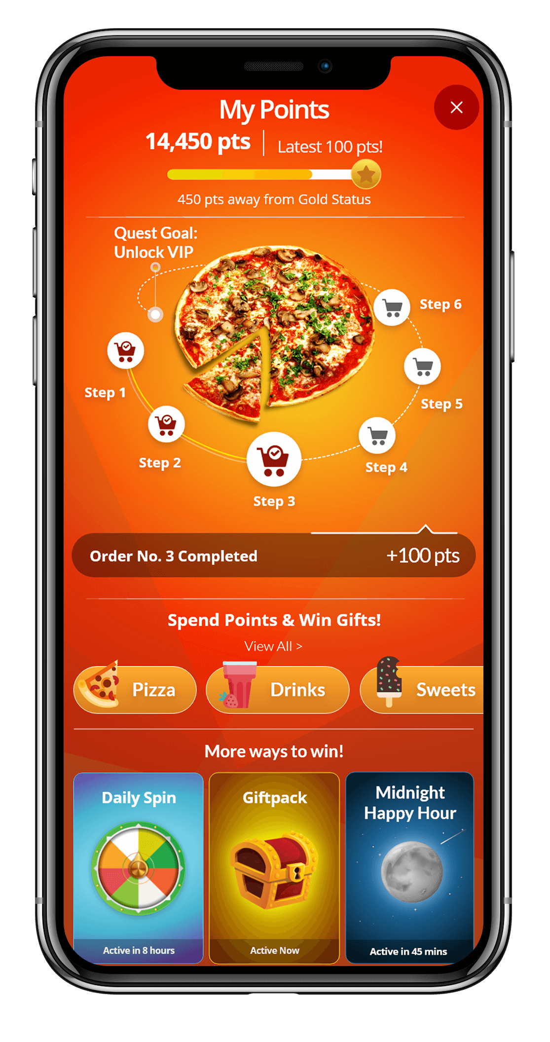 wappier Loyalty Automation for Food and Restaurants - Quest Feature
