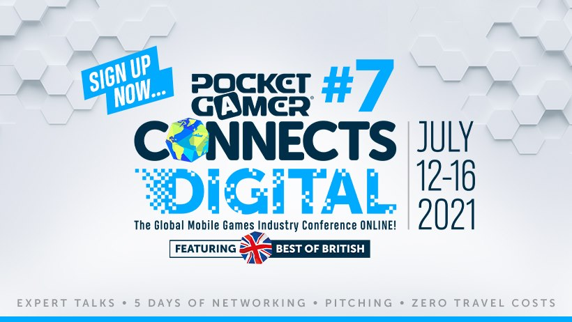 Pocket Gamer Connects Digital #7 – Silver Sponsorship at the Global Mobile Games Conference